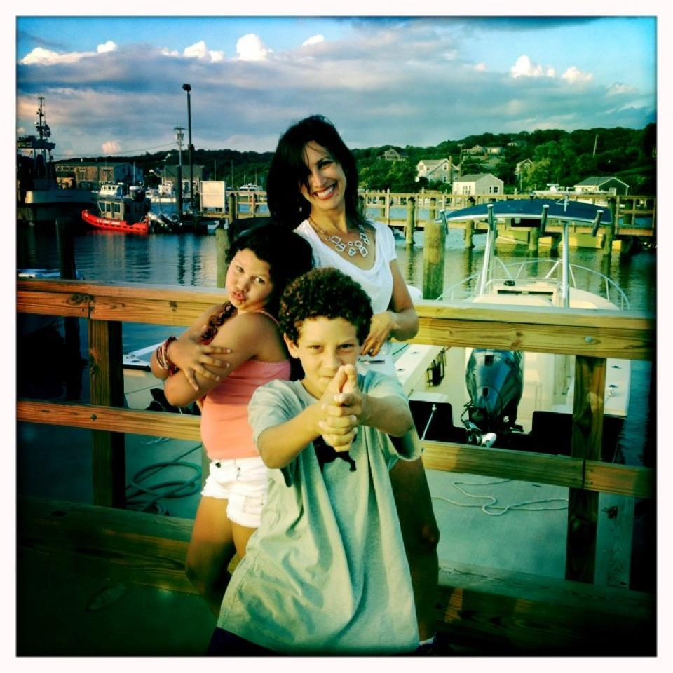 Wendy with Jonah and Lexi
