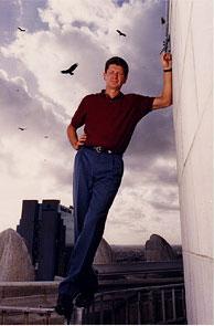 Paul on the balcony