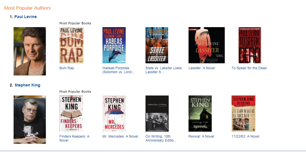 Kindle Store Levine & King